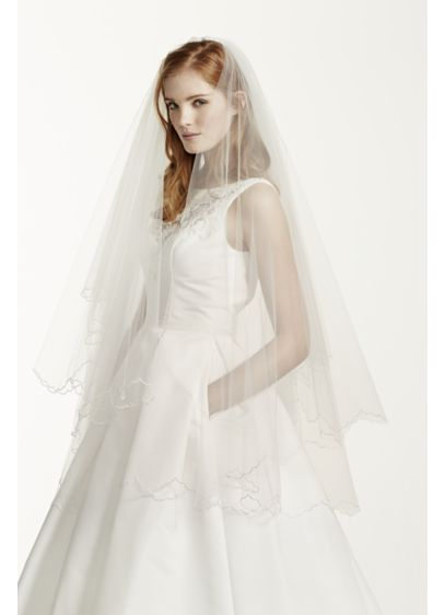 Multi Layer Scallop Edge Mid Veil - Wedding Accessories