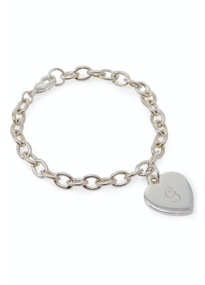 Personalized Heart Tag Charm Bracelet 1510