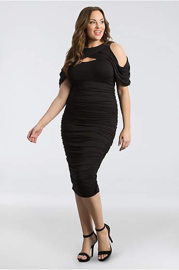 Bianca Ruched Plus Size Dress