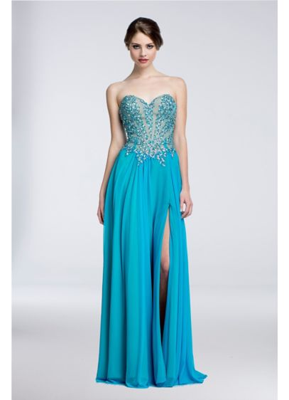 Long A-Line Strapless Formal Dresses Dress - Terani Couture