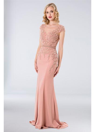 Long Mermaid/ Trumpet Cap Sleeves Formal Dresses Dress - Terani Couture