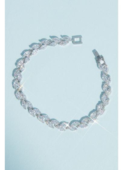 Sparkling Cubic Zirconia Vine Bracelet - Wedding Accessories