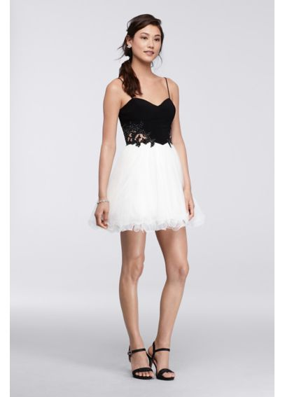 Short Homecoming Dress with Ballerina Skirt 155349