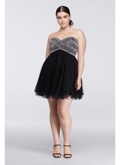 Short Ballgown Strapless Prom Dress - Blondie Nites