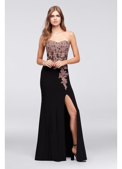 Long A-Line Strapless Prom Dress - Blondie Nites