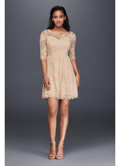Short A-Line Vintage Wedding Dress - Soieblu