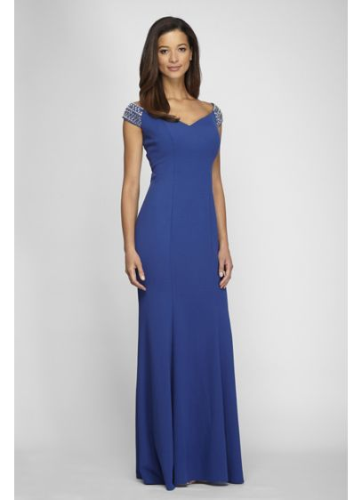 Long Fit and Flare Off the Shoulder Formal Dresses Dress - Alex Evenings