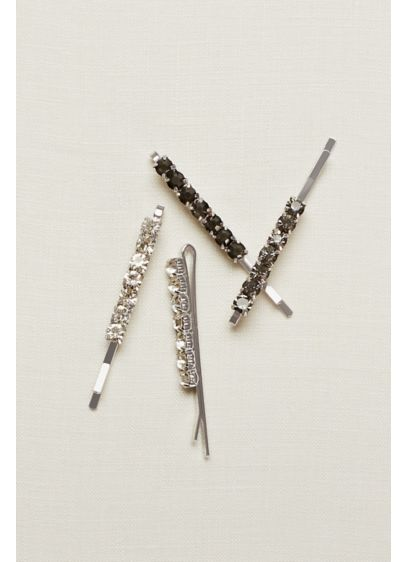 Set of Four Black Bobby Pins - Wedding Accessories