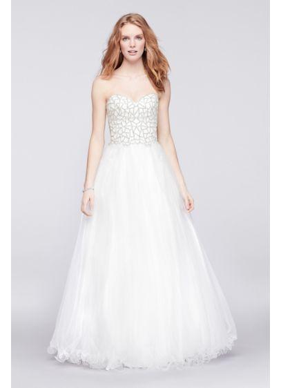 Long Ballgown Strapless Quinceanera Dress - Glamour