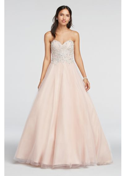 Crystal Beaded Strapless Sweetheart Prom Dress 1611P1243