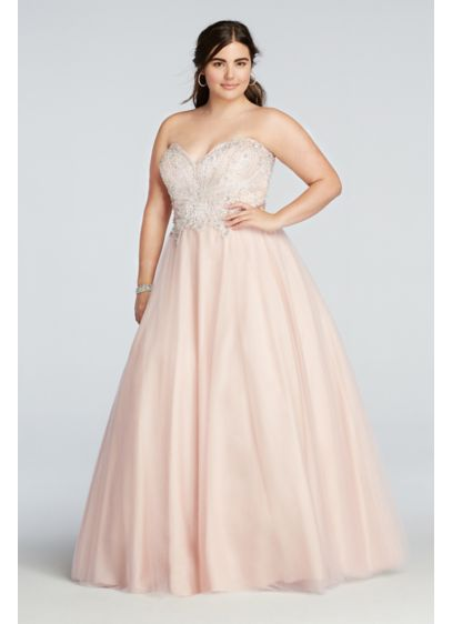 Long Ballgown Strapless Quinceanera Dress - Glamour