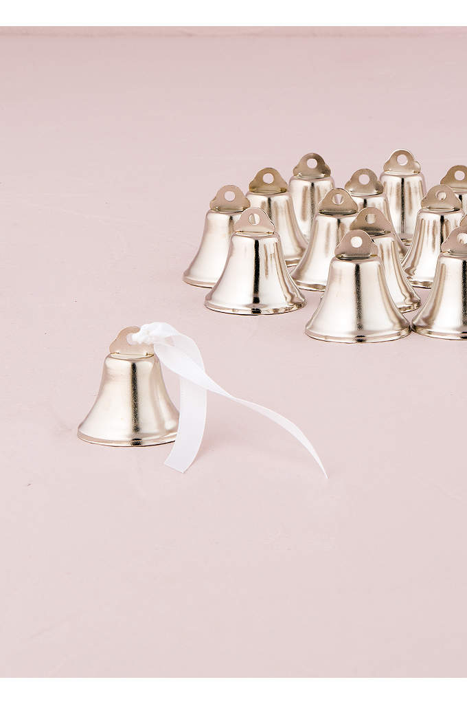 Mini Wedding Bells Pack of 24 - The miniature wedding bells can be used as