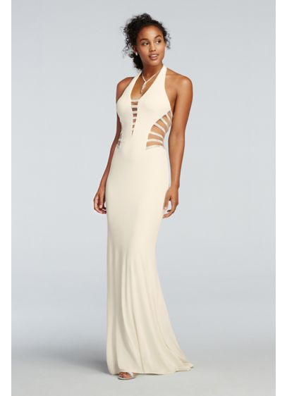 Long Sheath Halter Prom Dress - Glamour