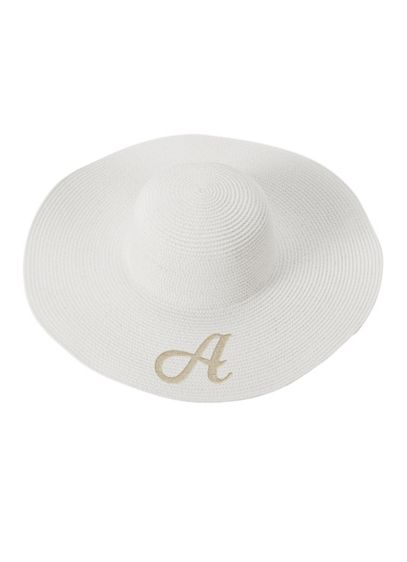 Single Initial Personalized Beach Hat - Wedding Gifts & Decorations