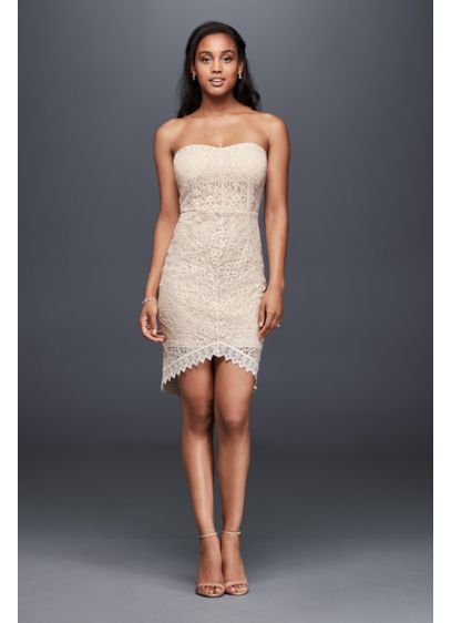 Short Sheath Beach Wedding Dress - Soieblu