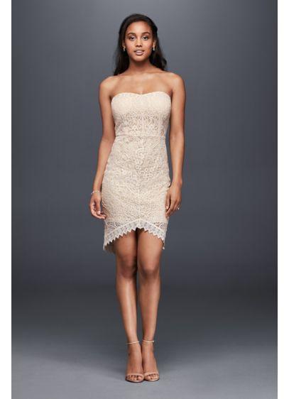 Short Sheath Beach Wedding Dress