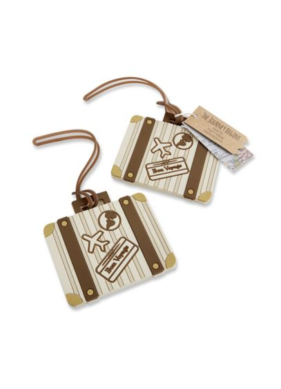 Let the Journey Begin Suitcase Luggage Tag Favor - Wedding Gifts & Decorations