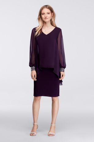 Plum Knee Length Dress