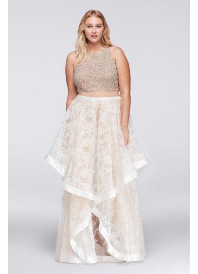 Long Ballgown Halter Daytime Dress - Glamour