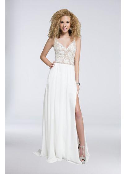 Long A-Line Tank Formal Dresses Dress - Terani Couture