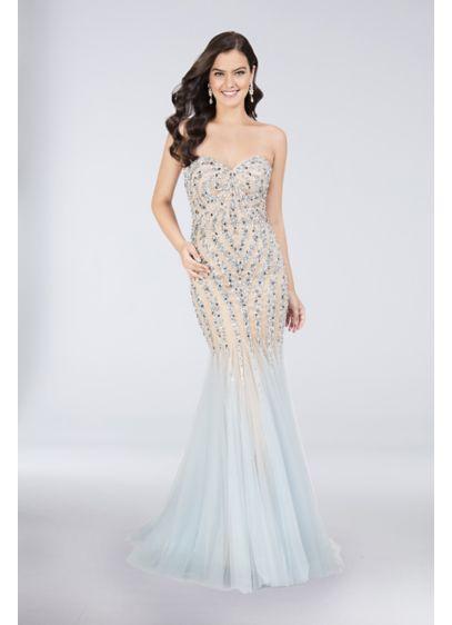 Long Mermaid/ Trumpet Strapless Prom Dress - Terani Couture
