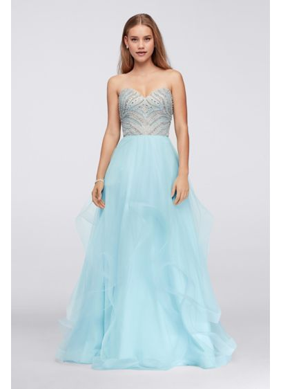 Long Ballgown Strapless Formal Dresses Dress - Glamour