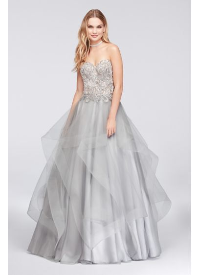 Long Ballgown Strapless Quinceanera Dress - Glamour by Terani