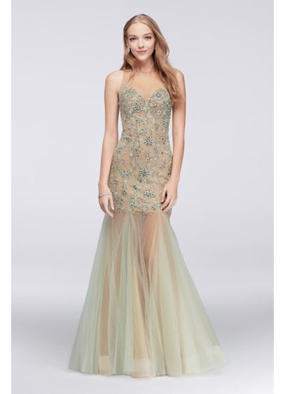 Long Mermaid/ Trumpet Tank Prom Dress - Glamour