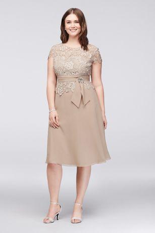 Chiffon Tea Length Cocktail Dress