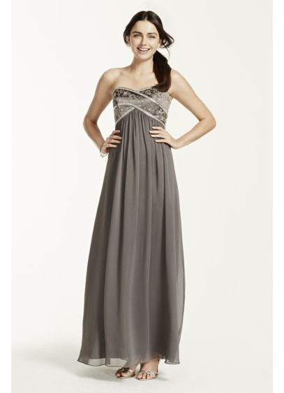 Long Sheath Strapless Military Ball Dress - David's Bridal