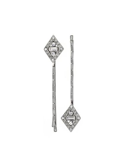 Downton Abbey Silver Diamond Bobby Pin Fasteners - Wedding Accessories
