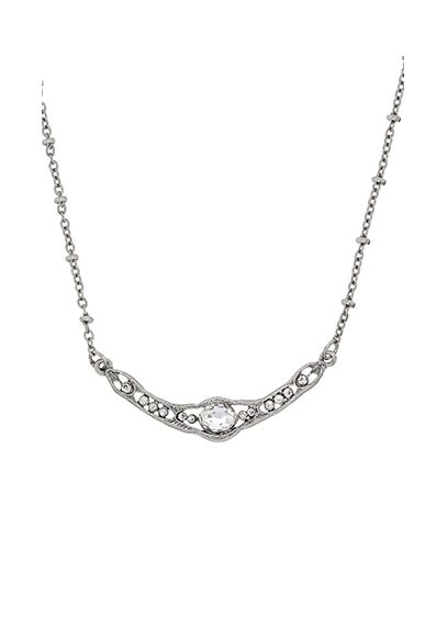 Downton Abbey Silver Crystal Collar Necklace - Wedding Accessories