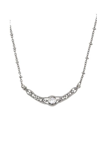 Downton Abbey Silver Crystal Collar Necklace 17596