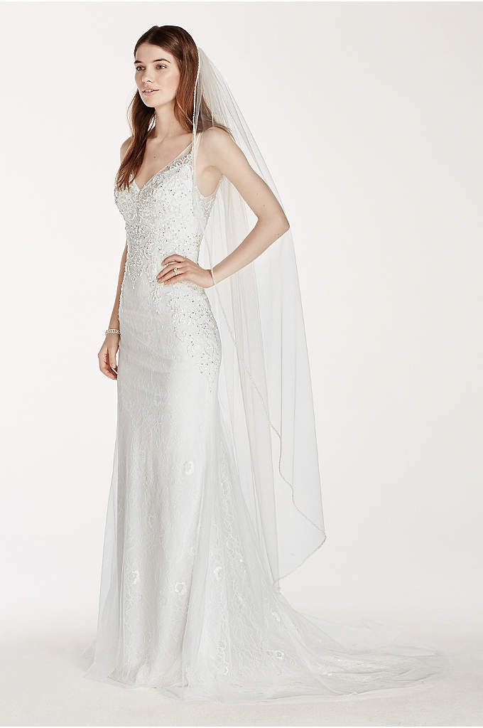 Embellished Edge Walking Veil - Add a classic touch to your bridal look