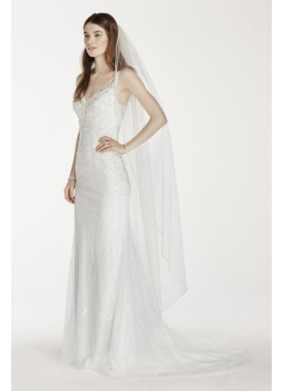 Embellished Edge Walking Veil - Wedding Accessories