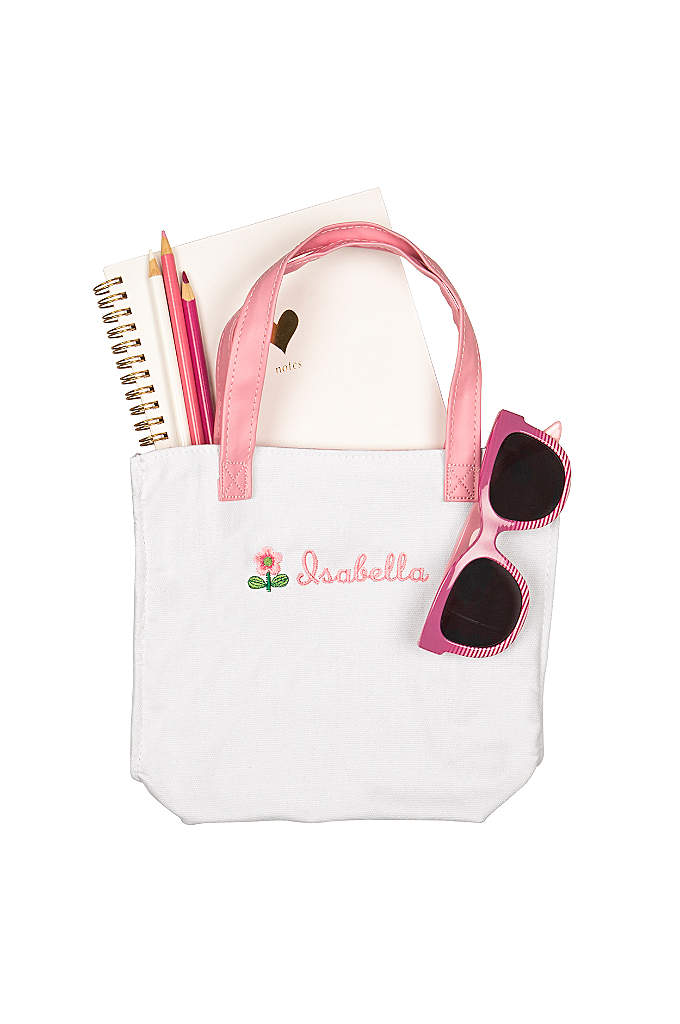Personalized Flower Girl Mini Tote Bag - She'll be pretty in pink with our Personalized