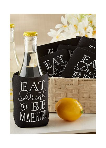 Eat, Drink and Be Married Can Holder (Set of 12) 18073NA