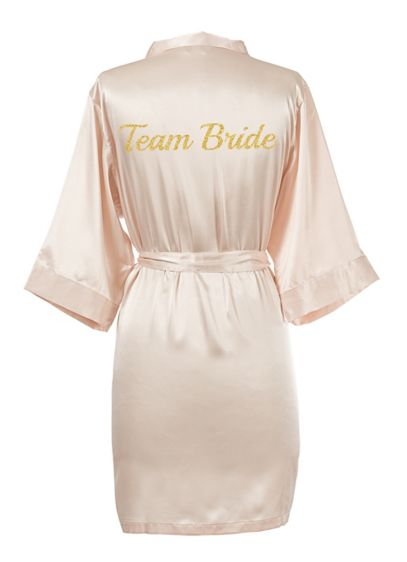 Glitter Script Team Bride Luxury Satin Robe - Wedding Gifts & Decorations