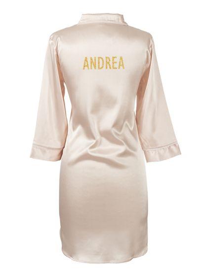 Personalized Glitter Script Name Satin Night Shirt - Wedding Gifts & Decorations