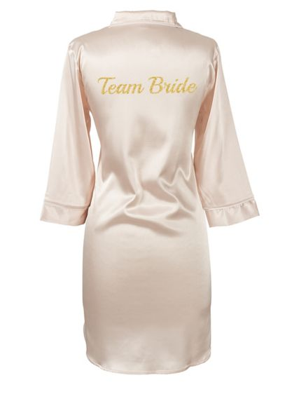 Glitter Script Team Bride Satin Night Shirt - Wedding Gifts & Decorations