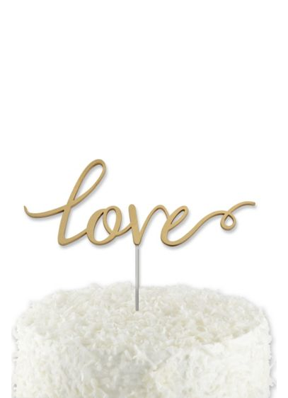 Love Cake Topper - Wedding Gifts & Decorations