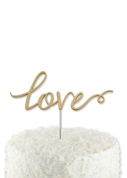 Gold Love Cake Topper 18092NA
