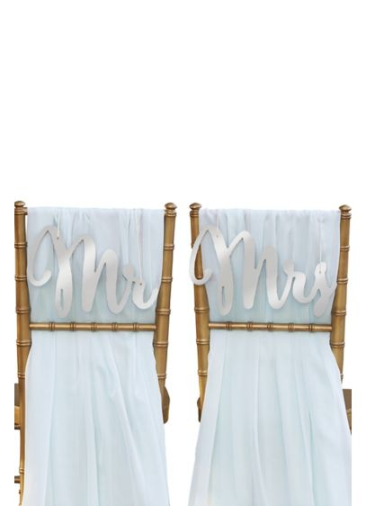 Grey (Silver Shimmer Classic Mr and Mrs Chair Signs)
