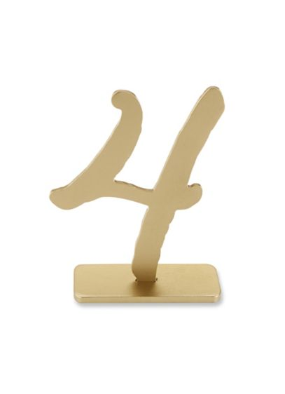 Good as Gold Table Numbers - Wedding Gifts & Decorations