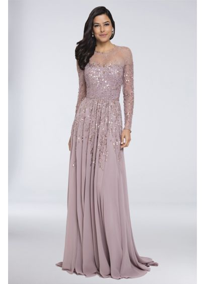 Long A-Line Long Sleeves Formal Dresses Dress - Terani Couture
