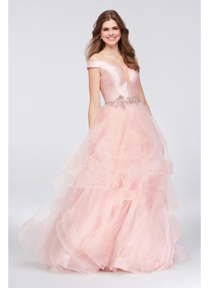 Long Ballgown Off the Shoulder Quinceanera Dress - Glamour by Terani