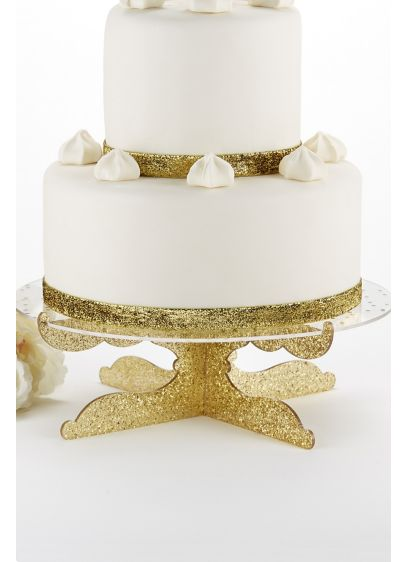 Party Time Gold Glitter Acrylic Cake Stand - Wedding Gifts & Decorations