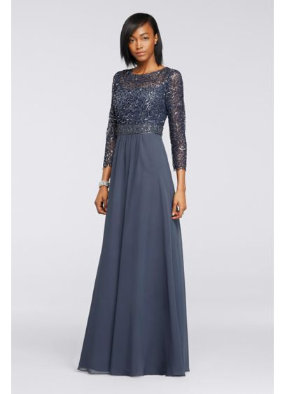 Long A-Line 3/4 Sleeves Formal Dresses Dress - Decode 18