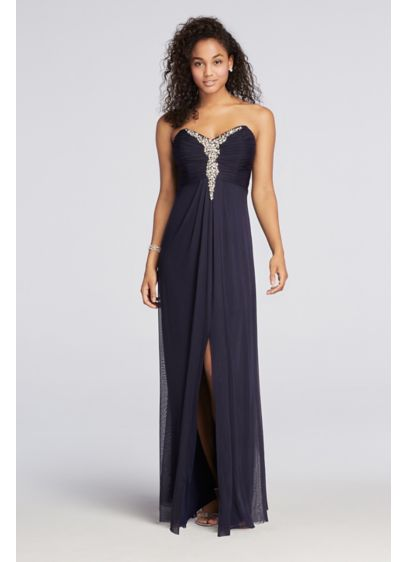 Long A-Line Strapless Prom Dress - Decode 18