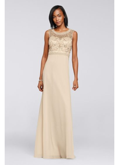 Long Ivory Soft & Flowy Decode 18 Bridesmaid Dress